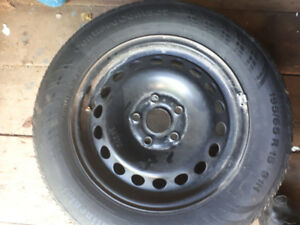 OEM spare rim and tire for 2006 to 2011 VW Jetta