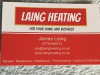 LAING HEATING - Experienced Gas Safe Registered Engineer - All natural gas and LPG work undertaken.