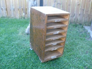 Home made filing cabinet with wheels - $20.00