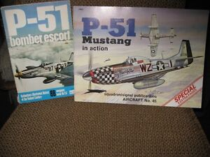 LIVRES - P-51 MUSTANG IN ACTION NO 45 AND  BOMBER ESCORT NO 26