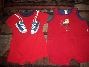 3-6 months summer rompers