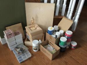 Lot of Art Supplies (paints, canvases, etc.)