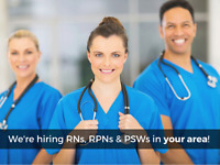 We're Hiring RN's, RPN's and PSW's for long term care