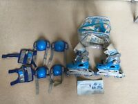 2in1 Children's skates with helmet and accessories