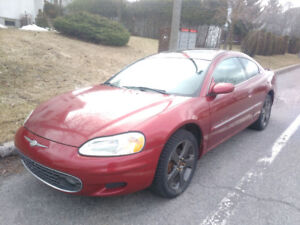 2001 chrysler sebring coupe LXi v6 manuel (eclipse GT)