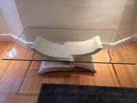 Stylish Glass Top Coffee Table