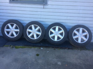 Five 235/65/18  tires/wheels for Nissan Murano
