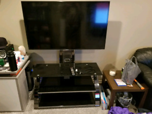 "55""samsung TV and stand"