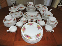For Sale: Rose Garden Ironstone Ware complete set by Myott