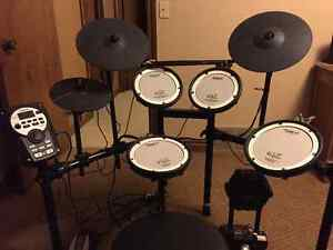 Roland Drum Set with Speaker and Stool