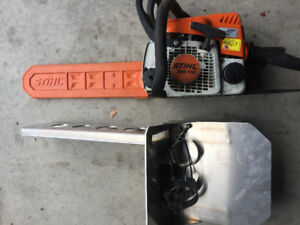Ktm chain saw mount and stihl ms170