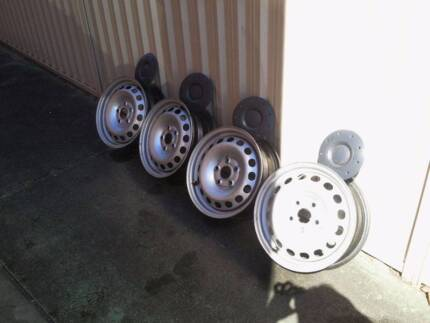 VW Caddy Steel Wheels Balanced and Clean