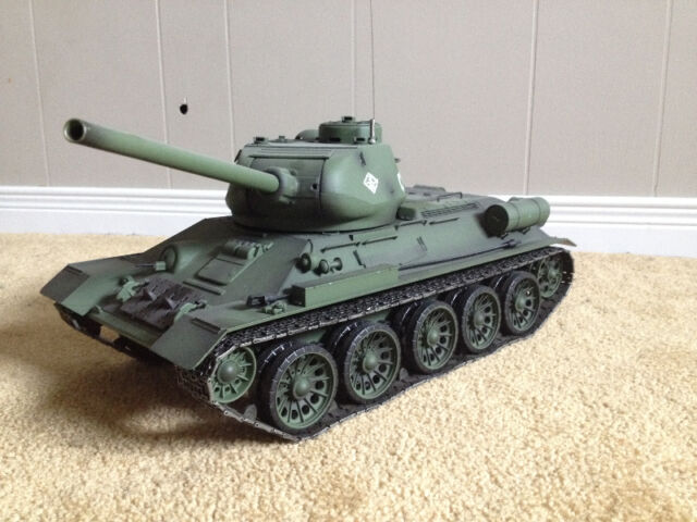 FOR SALE - Heng Long 1:16 R/C S&S Russian T-34 / 85 Tank - 2.4Ghz $_27
