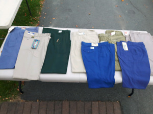 """8 pair of Men's casual pants size 30"""" waist, brand new with tags"""
