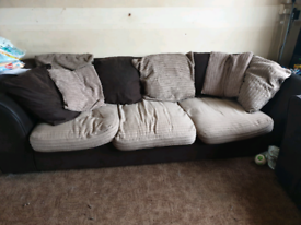 Large three and large two seater sofas