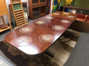 Mid century modern rosewood table dining boardroom