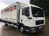 2012 MAN TGL 8.150 day cab, 23FT GRP box, dhollandia tail-lift