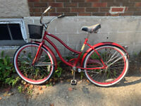 Found red women's bike with basket