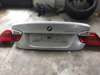 BMW e90 boot lid silver and lights