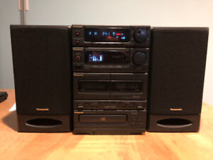 Panasonic dual cassette and CD player plus AM/FM radio