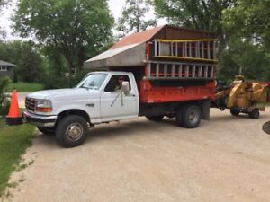Ford F-450 Wood Chip Dump 2 compartments with Ramps