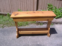 Vintage knotty pine bench plus 2 different ones