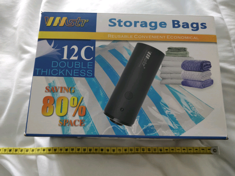 Travel Vacuum Storage Bags with Electric Pump for sale  Dewsbury, West Yorkshire