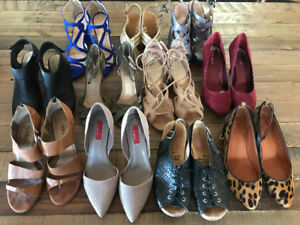 Women's size 8 footwear lot - see listing for prices