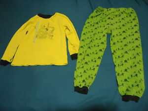 Boys Size 7/8 Karate Print PJ Set made of Cotton
