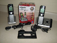 home phone set , answering machine , two handsets