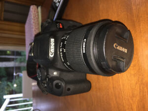 Canon t5i with 18-55mm lens