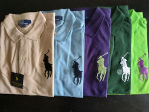 Ralph Polo Lauren Big Pony Polo 5 colors from Large to XXL