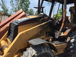 CAT backhoe fire damage