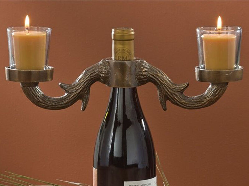 How to make a wine bottle candle ebay for How to make candle holders out of wine bottles