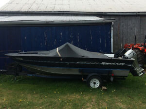 Family aluminium fishing/tubing boat
