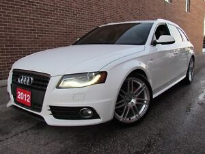 2012 Audi A4 2.0T Premium,S Line,AWD,Leather,Pano Sunroof