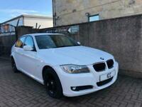 10 10 BMW 316D 2.0 TURBO DIESEL SPORT ES 4DR WHITE FULL BLACK LEATHER £30 TAX AC