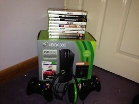 *SOLD* Xbox 360 Slim 250gb Boxed with 9 games and 2 controllers