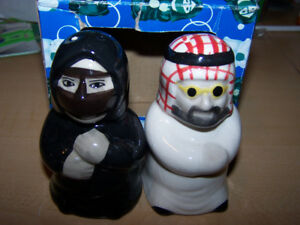 Muslim Man & Woman SALT & PEPPER SHAKERS - new in box