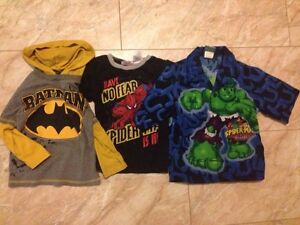 $5 for ALL! Size 3 - pants, PJs, Superhero shirts.