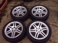 """17"""" Mercedes Benz C Class AMG Genuine Staggered Alloys 5x112"""