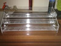 3 Acrylic nail polish shelves - 3 tiers each