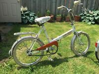 2 x vintage folding bikes in great condition