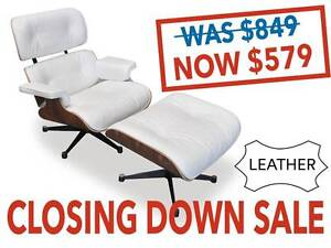 SALE: Replica Eames Lounge & Ottoman-Genuine Leather only 17 left Osborne Park Stirling Area Preview