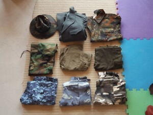Military Surplus lot pants, jacket, hat