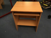 PC Trolley Beech Effect Computer laptop table as new
