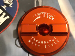 New STM All Kawasaki Billet Oil Fill Cap Lid Red Anodized WireTy