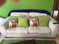 Cream John Lewis sofa