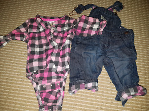 Multiple Girl outfits 0-3  months