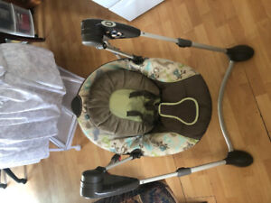 Baby swing and kick and play chair $40 for both